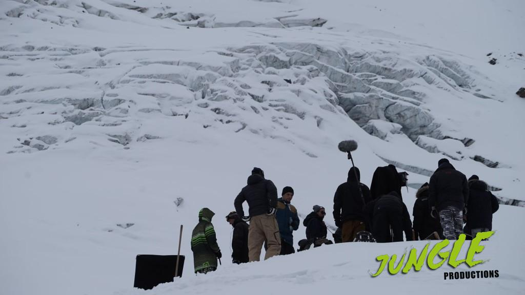 shoot on a glacier
